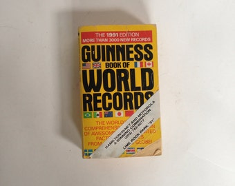 Vintage Guinness Book of World Records 1991 - Paperback
