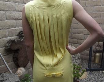 Yellow Sleeveless 1960's Wiggle Dress