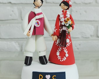 Custom Cake Topper -Wearing Traditional Outfit-
