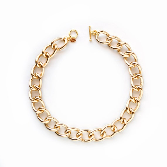Chunky Gold Chain Link Necklace