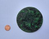 Architectural Medallion Wall Art, Green and Black  Home Decor, Garden, Victorian, Baroque