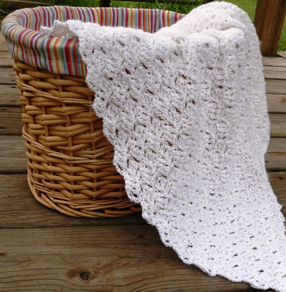 Crochet Christening Blessing Blanket Afghan heirloom blanket