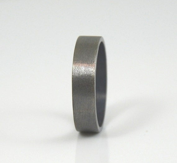 s ring brushed sterling silver wedding band for