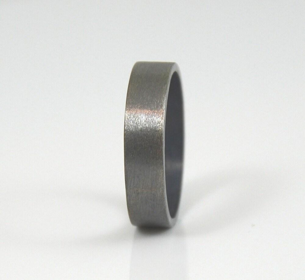Men 39 S Ring Brushed Sterling Silver Wedding Band For Men