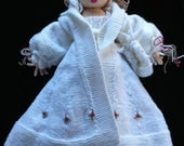 The Winter Queen: beautiful knitted doll