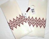 Kitchen Towel Gift Set Chevron Red Swedish Weaving