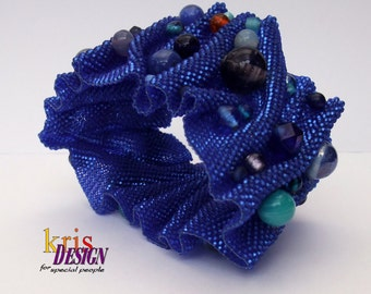 my answer to SHIBORI bracelet