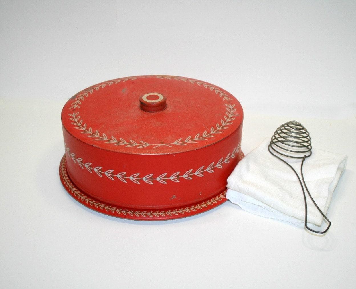 Weibro Cake Server Americana Cake Tin Copper And Wood Grain