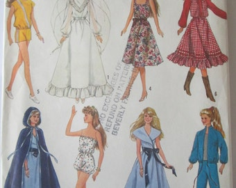 Simplicity 8333 Barbie Doll Clothes Sewing Pattern 11 inch doll