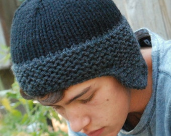 Knitting PATTERN-The Brock Cap (Toddler, Child, Adult sizes)