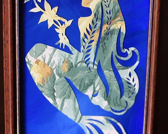 Custom Mermaid Papercutting with braids