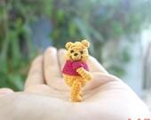 dollhouse crochet miniature - 1 1/4 inch bear - tiny amigurumi animal