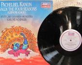 "Vintage Antonio Vivaldi's ""The Four Seasons"", ""Pachelbel Kanon"" and Albinoni's ""Adagio in G Minor"" Classical Music Vinyl Record Album"
