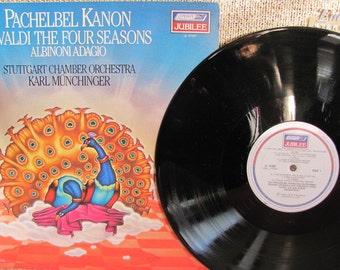"Vintage 70's Antonio Vivaldi's ""The Four Seasons"", ""Pachelbel Kanon"" and Albinoni's ""Adagio in G Minor"" Classical Music Vinyl Record Album"