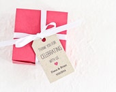 Favor Tags, Wedding Favor Tag, Bridal Shower Favor, Gift Tag, Thank You For Celebrating With Us Heart Tag - Set of 25 (SMGT-HND)