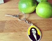 Tina Fey in a Lemon - Keychain - Liz Lemon - Birthday - Lemon - Gift - Pop Culture - TV  - Nerds - Comedy - Pun - Blerg - Human Bra - Women