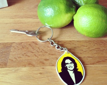 Tina Fey in a Lemon Keychain