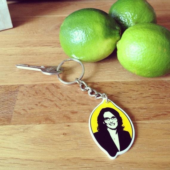 Tina Fey in a Lemon Keychain