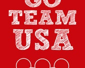 Team USA 8x10 Olympic Printable 8 x 10 Sign Picture America - BabyWilde