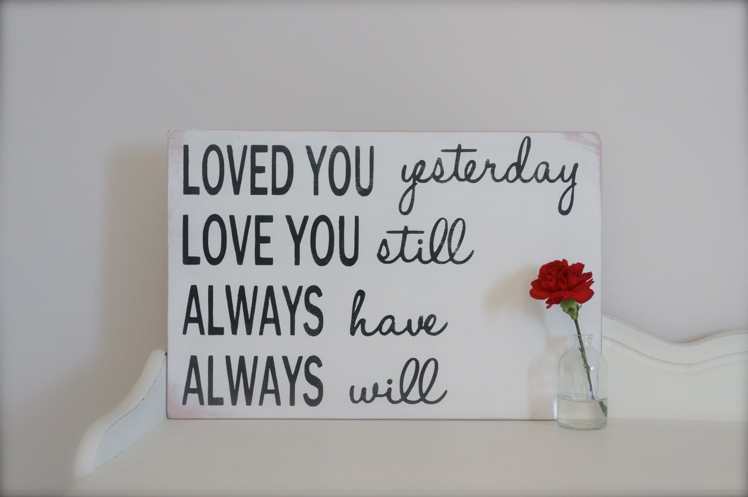 Love Quotes For Wall Art : Love quote wall art custom sign wood by