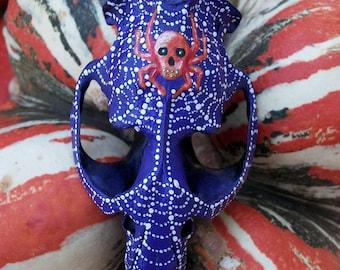 Skull Spider & Web Halloween Muskrat Skull