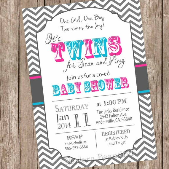twins baby shower invitation twin girl twin boy boy and, Baby shower invitation