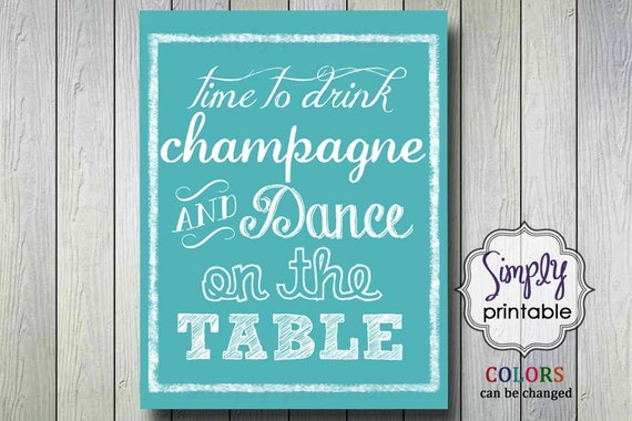 Time to Drink Champagne Print 11x14