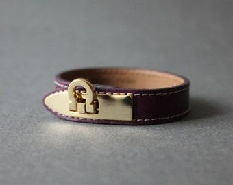 Gancini Metal Ornament Bracelet (Purple)