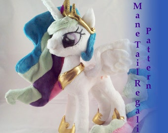 Instant Download Pony Princess multicolor Mane Tail and Regalia Pattern