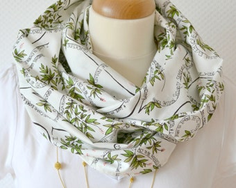 Infinity Scarf. Circle Scarf. Womens Scarf. Loop. europeanstreetteam. Wishing Tree. Inspiration. Typography. green. white