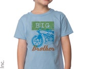 Motorcycle Big Brother T-Shirt - Pregnancy Announcement Shirt - Big Brother To Be - Motorcycle Theme Party