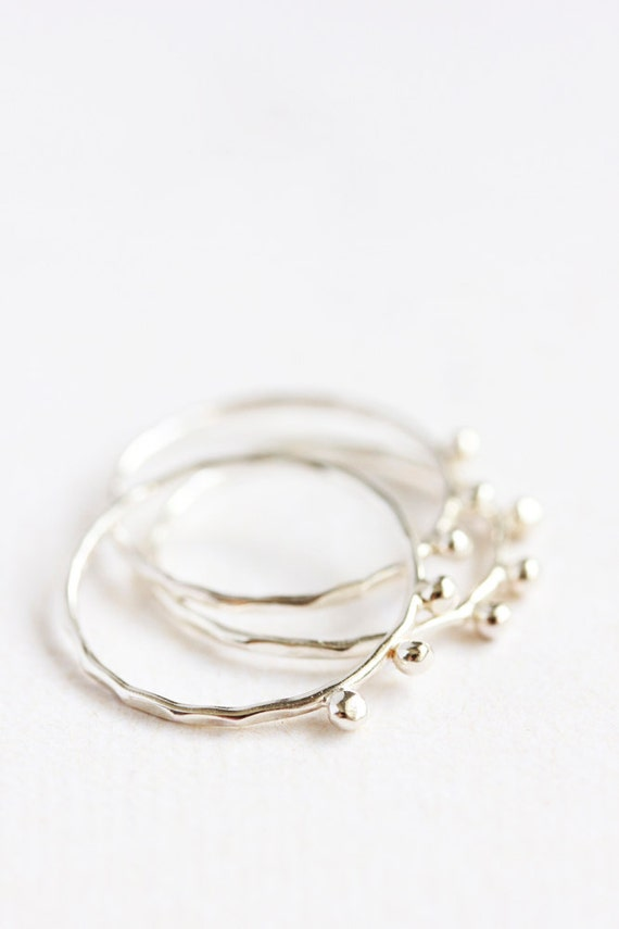 thin sterling silver stacking rings organic eco friendly