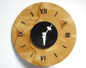 George Nelson & Associates Wooden Dish Clock RESERVED for Dexter Hutchison
