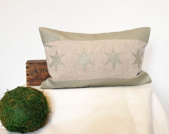 Chicago Flag Pillow Cover - Linen