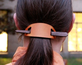 Simple Leather Barrette