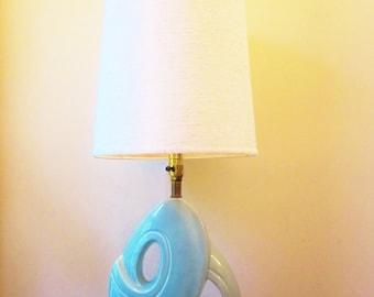 Vintage Lamp Royal Haeger MINT GREEN Abstract Deco CURSIVE