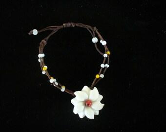 Vintage Macrame Beaded Bracelet  Macrame Handmade Bracelet Knotted Jewelry ShipsWorldwide YourFineHouse