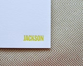 custom letterpress personal stationery