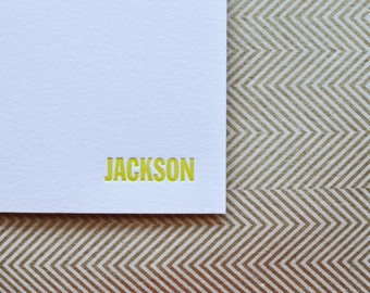 custom letterpress personal stationery