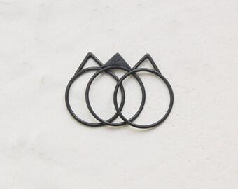 Silver stacking peak rings N25 & N26