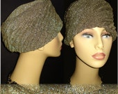 Vintage 1960s Hat Black Gold Turban Mad Men Garden Party Rockabilly Dress Pinup Bombshell  New Look Mod