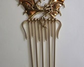 Bronze Dragon Comb with Copper Wings