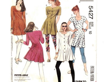 McCall's 5427 Misses Leggings Tunics Sew For Fun  Size 8 Bust: 31 1/2  Uncut-3
