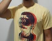 Mens Screen Printed Steampunk  3D Shirt