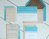 SAVANNAH: Watercolor Destination Beach Wedding Invitation Suite