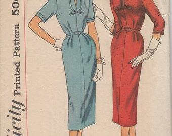 Bust 37-1960's Misses' Dress Simplicity 2265 Size 16 1/2