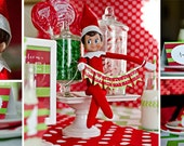SALE Christmas Elf Printable Party Collection - INSTANT DOWNLOAD  by Itsy Belle