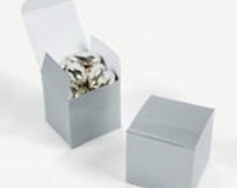 Silver Favor boxes-12 EA