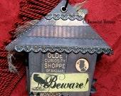 Halloween Scrapbook Album - Haunted Curiosity Shop - Pre Made House Mini Book