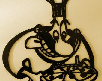 Pizza,Italian,Restaurant,Cafe,Kitchen,Metal art,Italy